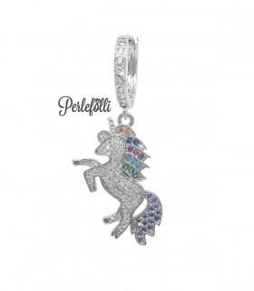 Cerchietto Unicorno con Zirconi colore Acciaio