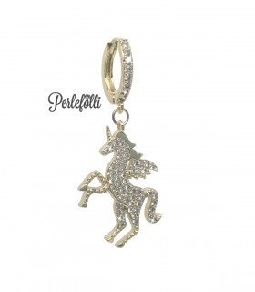 Cerchietto Unicorno con Zirconi Bianchi colore Oro