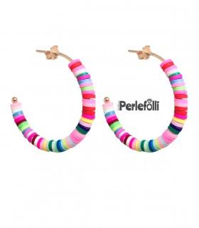 Cerchi con Rondelle Heishi Multicolor Argento 925