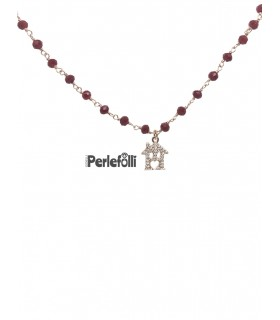 Bracciale Casetta Argento 925 Oro Rosa
