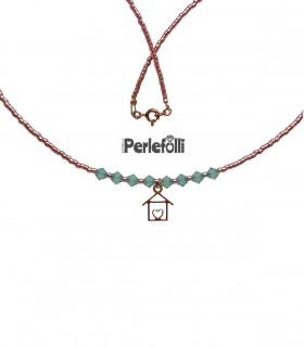 Collana Casetta con Cristalli Pacific Opal